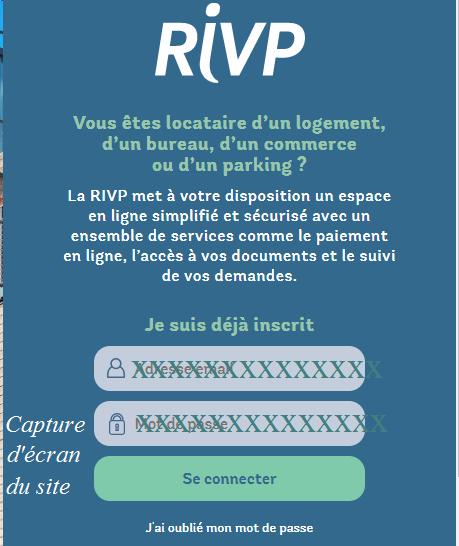 connexion à extranet-rivp.fr mon compte