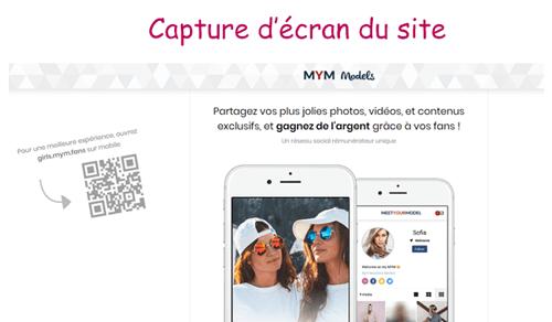 Accéder au site mym models