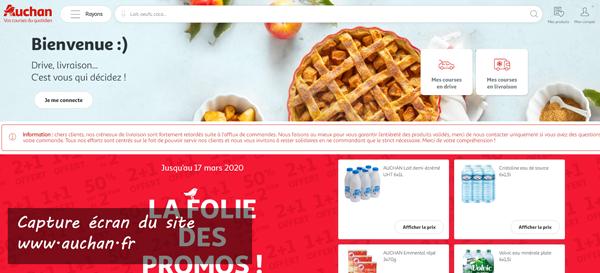 site de l'enseigne auchan : www.auchan.fr/courses