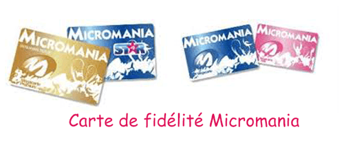 Carte micromania perdue