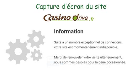 Casino drive ne marche pas