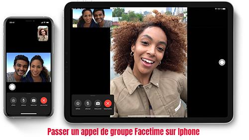 Passer un appel de groupe Facetime sur iphone