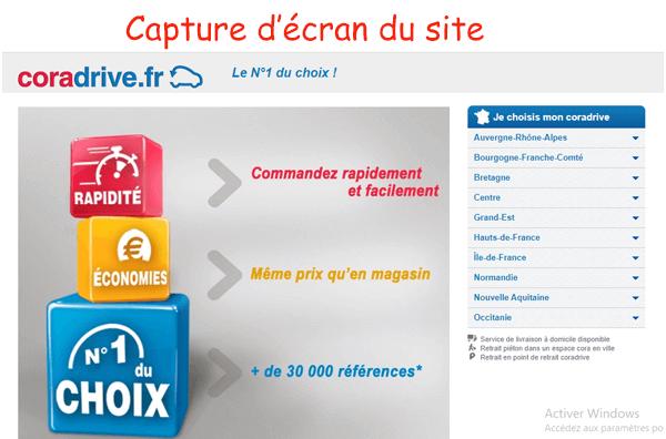 Accéder à coradrive.fr