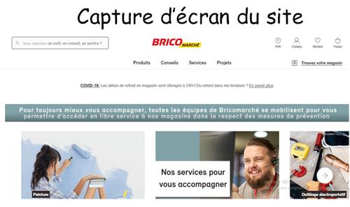 Accéder au site www.bricomarche.com espace client