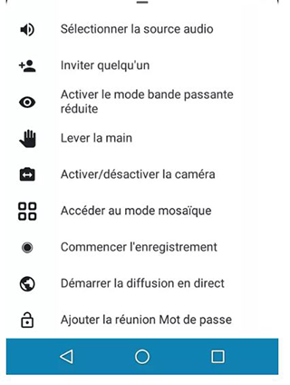 application vidéoconférence sur smartphone