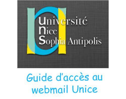 Connexion à webmail unice
