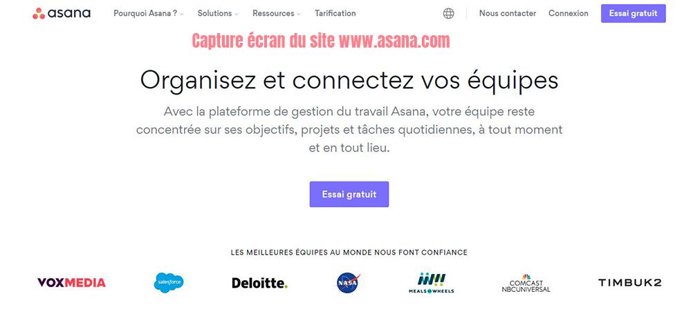 asana logiciel