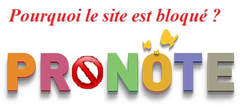 pourquoi Pronote est bloqué ?