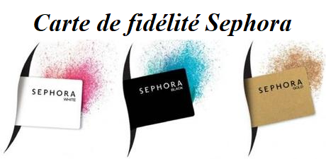 Carte de fidélité Sephora