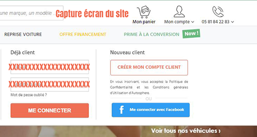 creer compte client autosphere