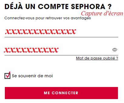 login www.sephora.fr.