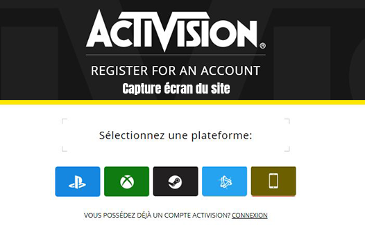 creer compte activision