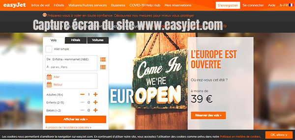 enregistrement easyjet
