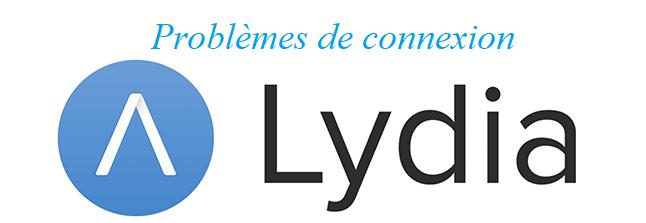 résoudre les problèmes de connexion Lydia