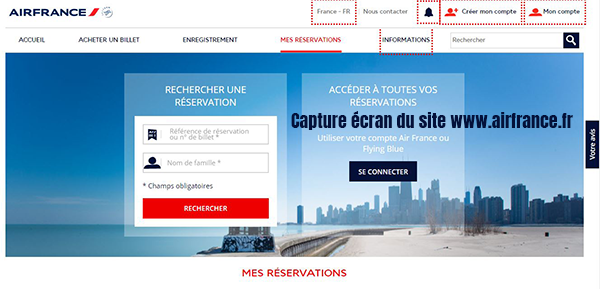 Mes reservations air france