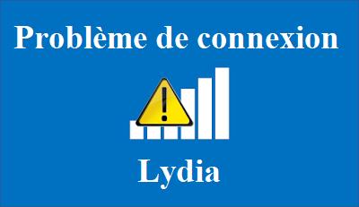 probleme de connexion Lydia
