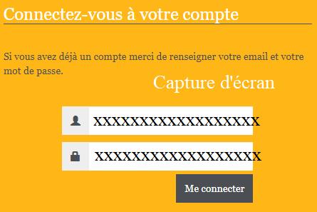 interface de connexion à mon compte assuré