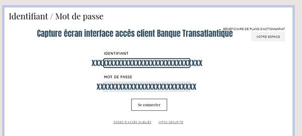 connexion espace client banque transatlantique