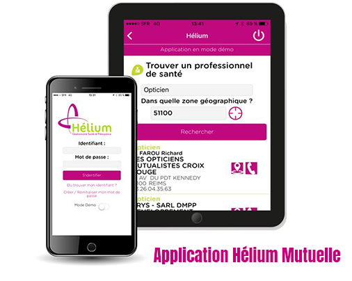 application mobile helium mutuelle