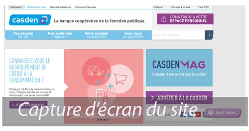 Consulter le site casden.fr