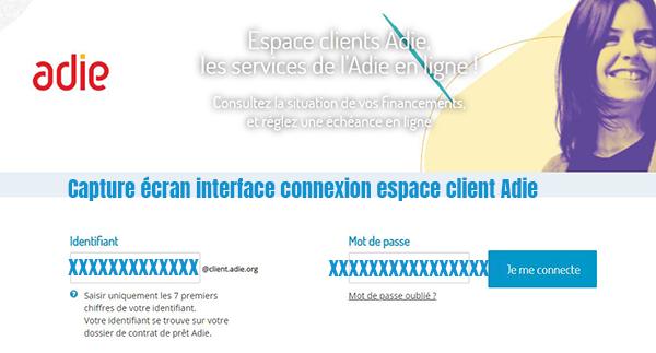 connexion espace client adie