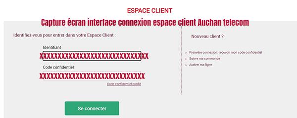 se connecter espace client auchan telecom