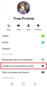 activer la conversation secrète Messenger Facebook