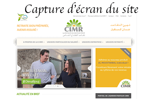 Se rendre sur www.cimr.ma telechargement