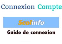 Consulter Scolinfo accueil