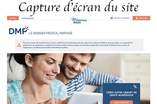 Accéder à www.dmp.fr