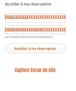 modifier reservation en ligne
