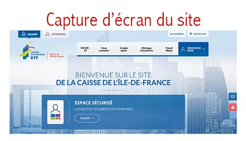 Accéder à mon compte sur www.cibtp-idf.fr