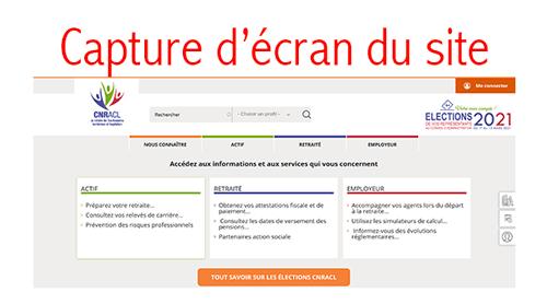 Se connecter à www.cnracl.retraites.fr