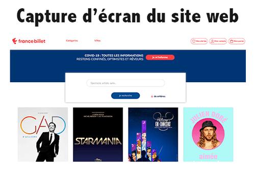Accéder à francebillet.com