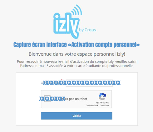creer compte izly