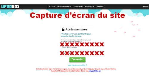 Uptobox login en ligne