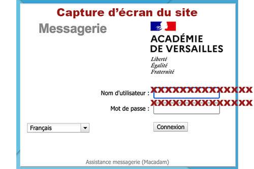 Authentification webmail académie de versailles
