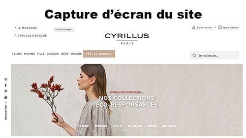 Accéder à cyrillus.fr mon espace client