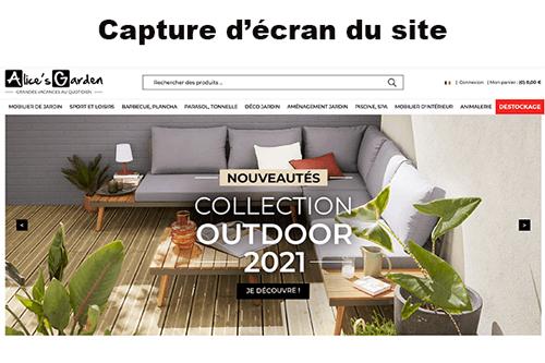 Se connecter à www.alicesgarden.fr