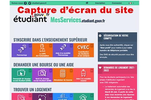 Se connecter sur messervices.etudiant.gouv.fr