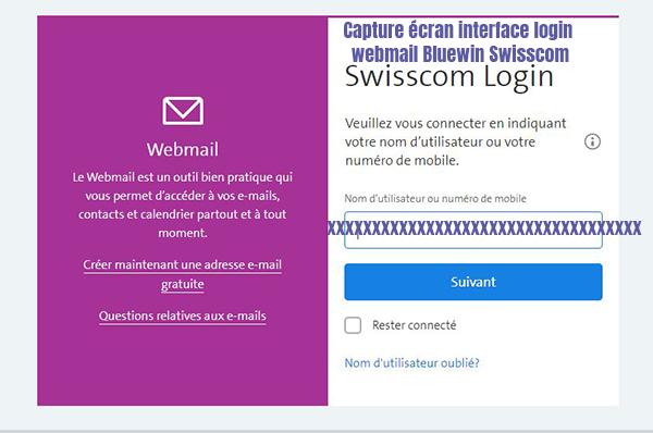 se connecter compte webmail bluewin swisscom